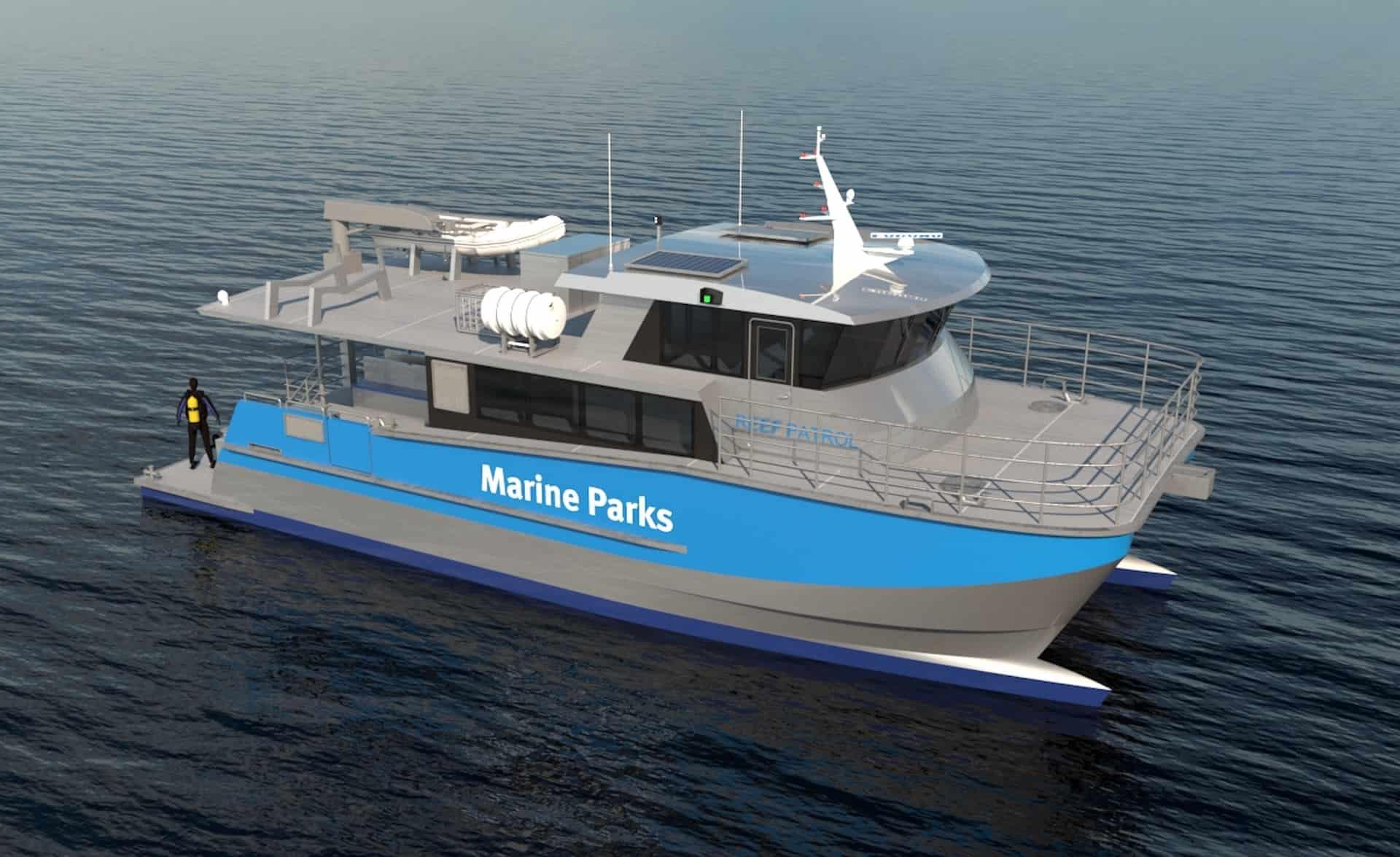 Custom 17m Cat For Great Barrier Reef Field Management program 1